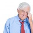 Elderly man very sad — Stockfoto