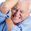 Senior man in great excruciating pain — Stock Photo