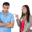 Wompointing at mas if to say bad boy — Stock Photo #31268295
