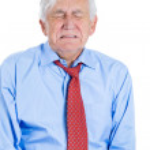 Elderly man very sad and depressed — Stock Photo