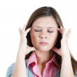 Woman stressed is going crazy pulling her hair in frustration — Stock Photo #32093653