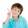 Kid showing victory or peace sign — Stock Photo