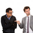 Stock Photo: Closeup portrait of boss pointing for worker to leave office, fired