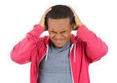 Homem com dor de cabeça — Foto Stock