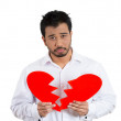 Sad mholding broken heart — Stock Photo #38169065