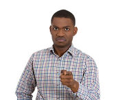 Man pointing at you with finger — Stock Photo
