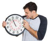 Leader holding a clock — Стоковое фото