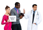 Patients can't pay for medical treatment — Stock Photo