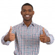 Man giving two thumbs up — Stock Photo