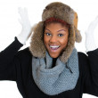 Womwearing winter gear — Stock Photo #38581847