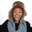 Womwearing winter gear — Stock Photo #38581857