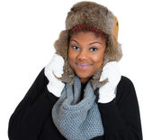 Woman wearing winter gear — Stock Photo