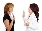 Two mad angry women — Stock Photo