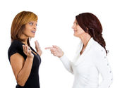 Two mad angry women — Foto de Stock