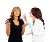 Two mad angry women — Foto Stock