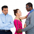 Stock Photo: Complex love triangle