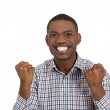 Happy young man winning — Stock Photo
