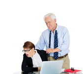 Scandals at the workplace — Stock Photo