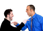 Two angry mad men yelling — Foto Stock