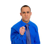 Man gesturing with thumbs and finger — Foto Stock