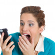 Talking on a cell phone — Stock Photo #38936671