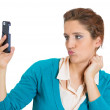 Talking on a cell phone — Stock Photo #38936851