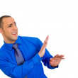 Man with shirt, very timid, shy and anxious — Stock Photo #39014839