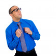 Nerdy man with glasses — Stock Photo