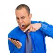 Stock Photo: Angry mshouting on phone