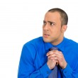 Man with shirt, very timid, shy and anxious — Stock Photo #39016329