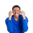 Screaming young man — Stock Photo