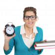 Woman carrying tons of books — Stock Photo #39330207