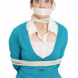 Kidnapped womwith mouth taped — Stock Photo #39330281