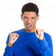 Man raising clenched hand fist — Stock Photo #39330611