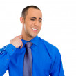 Stock Photo: Mopening shirt to vent