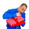 Mabout to open gift box — Stock Photo #39331007