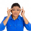 Womhaving bad headache — Stock Photo #39331651