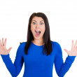 Stock Photo: Surprised woman
