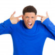 Man asking are you crazy — Stock Photo