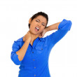 Woman with neck pain — Stock Photo