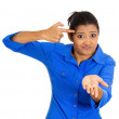 Angry woman, are you crazy — Stock Photo #39732845
