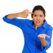 Angry woman, are you crazy — Stock Photo