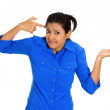Angry woman, are you crazy — Stock Photo #39732857