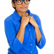 Stock Photo: Nerdy woman