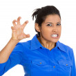 Woman, threatening someone with her claws, nails — Stock Photo #39733301