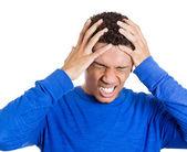 Estressado homem — Foto Stock
