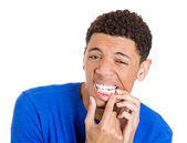 Man with tooth ache — Stock Photo