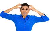 Donna stressata — Foto Stock
