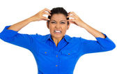 Mulher estressada — Foto Stock