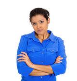 Grumpy woman — Stock Photo